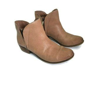 Lucky Brand Brenon Tan Leather Double Zipper Boots